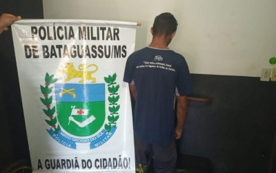 PM de Bataguassu prende duas pessoas foragidas da Justiça