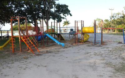 Balneário Municipal recebe playground para bebês e crianças de até 12 anos