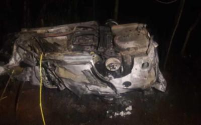 Bataguassu – Pacientes morrem após veículo bater em caminhão e pegar fogo na MS-395