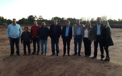 Obras em Brasilândia recebem visita de autoridades do Estado