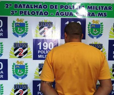 Polícia Militar prende, em Água Clara, autor de homicídio ocorrido em Andradina-SP