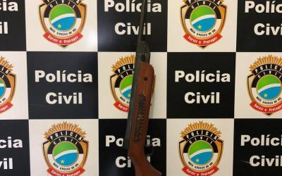Acusado por violência doméstica é preso em flagrante por posse de arma de fogo