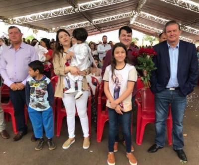 Deputado Eduardo Rocha prestigia 27ª Festa de Santa Terezinha, em Vicentina