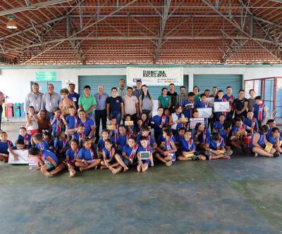 Com arrecadação de mais de 37 toneladas de materiais, SEMEA premia alunos participantes da Gincana Reciclável