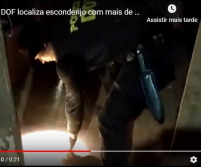 Vídeo: DOF localiza esconderijo com mais de 1 T de maconha, arma e munições de grosso calibre