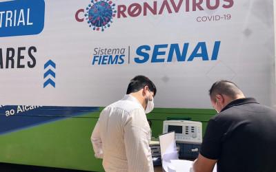 Senai entrega ao Hospital Evangélico de Dourados 3 respiradores consertados e calibrados