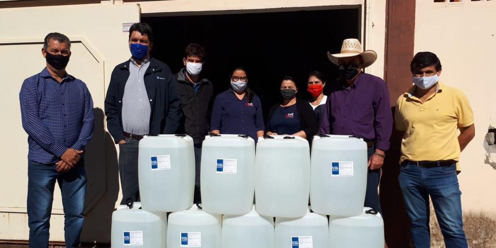 Empresa CTG Brasil doa 6 mil litros de álcool para saúde de Três Lagoas