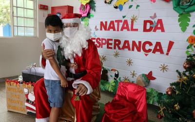 """CEI Professora """"Lilian Márcia Dias"""" realiza projeto """"Natal da Esperança"""" trabalhando amor e solidariedade com as mais de 180 crianças"""