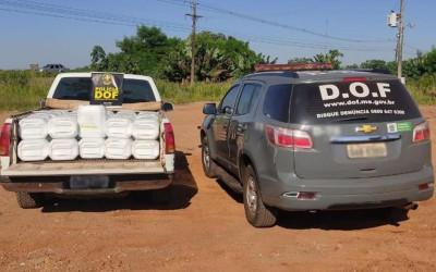 Veículo carregado com mais de dois mil litros de herbicida foi apreendido pelo DOF durante a Operação Hórus