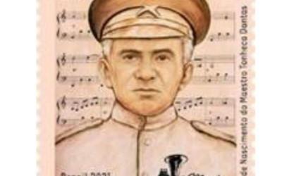 Correios lança selo em homenagem aos 150 anos de nascimento do Maestro Tonheca Dantas