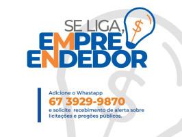 """Empreendedores cadastrados no Programa """"Se Liga, Empreendedor"""" já começam a receber informações sobre processos de licitações abertos em Três Lagoas"""