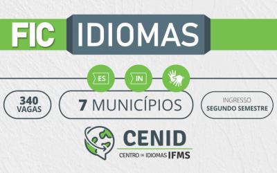 Matrículas para cursos de línguas do IFMS começam nesta quarta