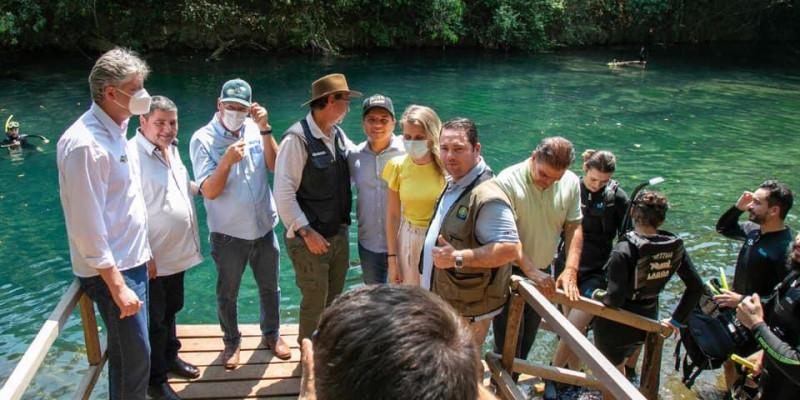 """""""Polo turístico de MS"""", Coronel David e Ministro do Turismo visitam Bonito"""