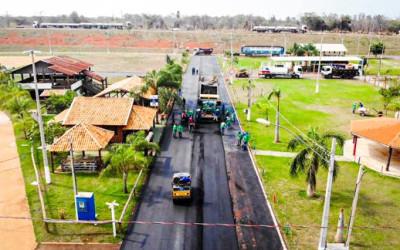 SEINTRA realiza recapeamento no Arenamix em Três Lagoas