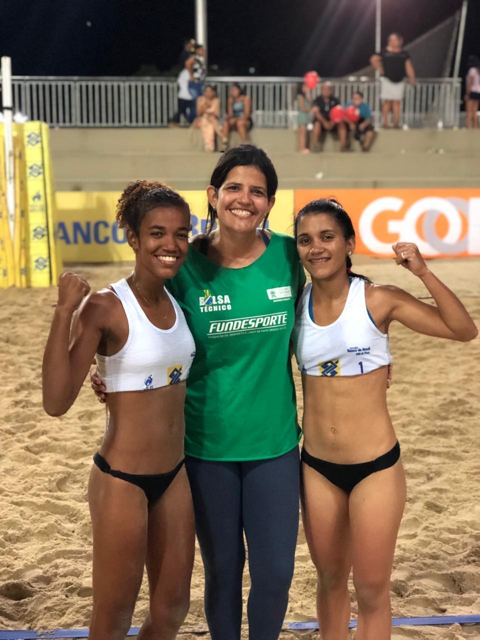 Circuito Brasileiro Sub21 de Vôlei de Praia: Aninha e Carol garantem 1º lugar para MS