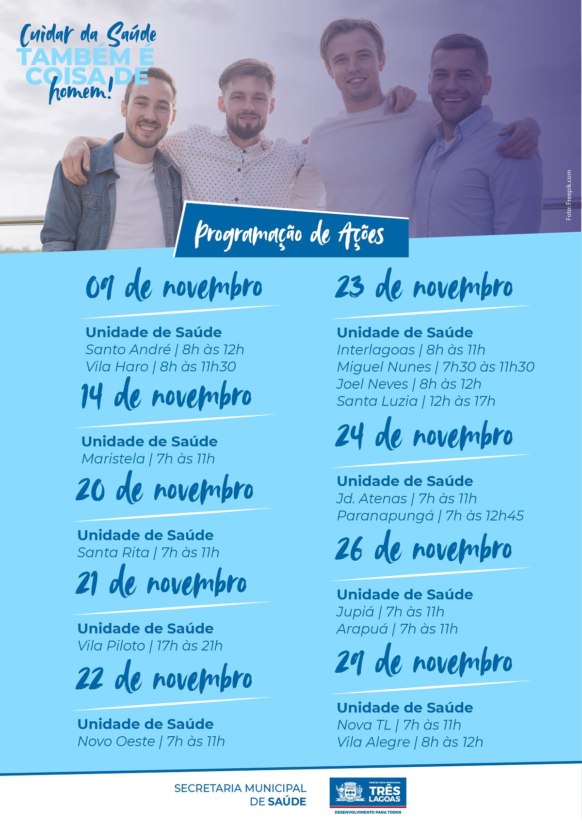 Homens são convidados a participar sábado de ações da Saúde no Santo André e Vila Haro