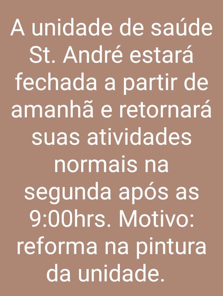 Unidade de Saúde Santo André suspende atendimentos para pintura do prédio