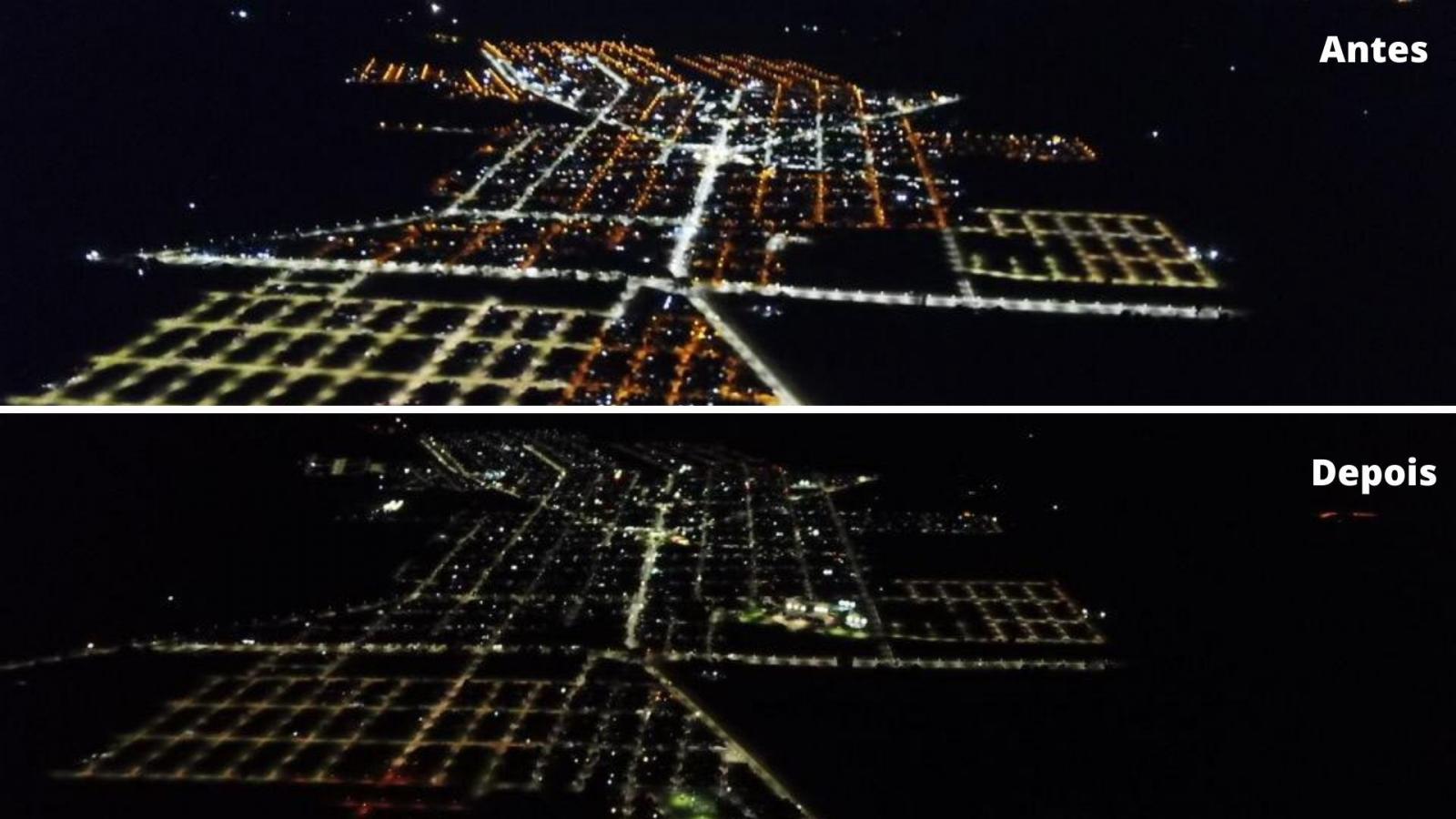Brasilândia está com 97% das ruas da cidade com luminárias de LED