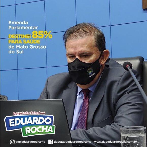 Deputado Eduardo Rocha destina 85% de suas emendas para a área da saúde de MS